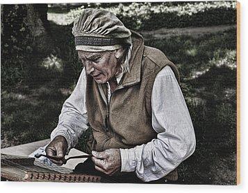 The Dulcimer Man Wood Print by Evie Carrier