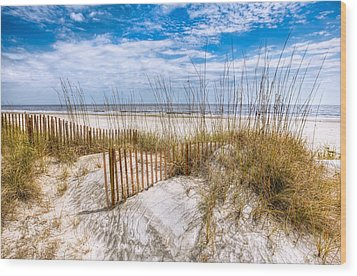 The Dunes Wood Print by Debra and Dave Vanderlaan