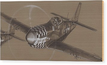 The Duxford Boys Drawing Wood Print by Wade Meyers
