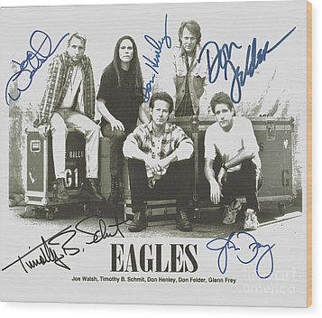 The Eagles Autographed Wood Print