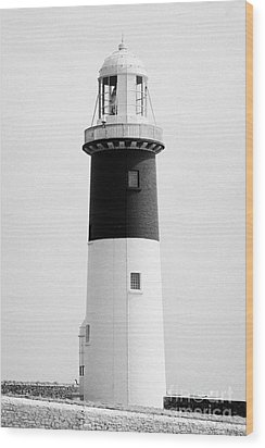 The East Light Lighthouse Altacarry Altacorry Head Rathlin Island Northern Ireland Wood Print by Joe Fox