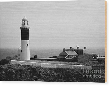 The East Light Lighthouse And Buildings Altacarry Altacorry Head Rathlin Island  Wood Print by Joe Fox