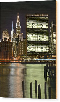 The East River Wood Print by JC Findley