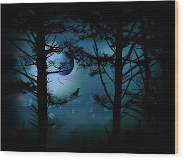 Wood Print featuring the photograph The Edge Of Twilight  by Micki Findlay