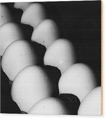 The Egg Brigade Wood Print by Jim Rossol