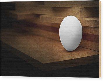 The Egg Wood Print by Tom Mc Nemar