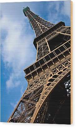 The Eiffel Tower From Below Wood Print by Nila Newsom