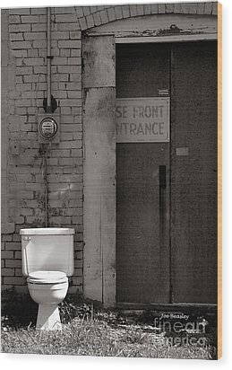 The Electric Outhouse Wood Print by   Joe Beasley