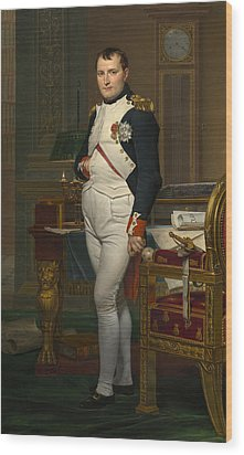 The Emperor Napoleon In His Study Wood Print by Mountain Dreams