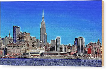 The Empire State Building And The New York Skyline 20130430 Wood Print by Wingsdomain Art and Photography