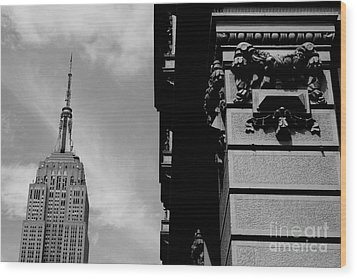 Wood Print featuring the photograph The Empire State Building by Steven Macanka