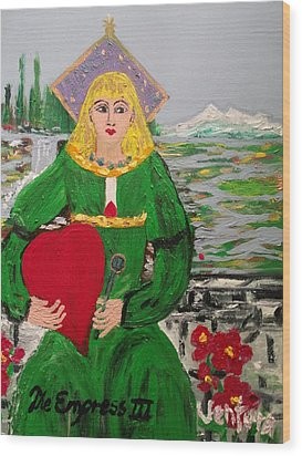 The Empress Tarot Card Wood Print
