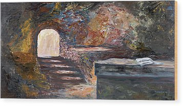 Wood Print featuring the painting The Empty Tomb by George Richardson