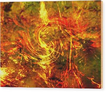 The End - 12/21/2012 - Horrific Hallucination Wood Print by J Larry Walker