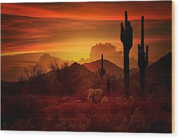 The Essence Of The Southwest Wood Print
