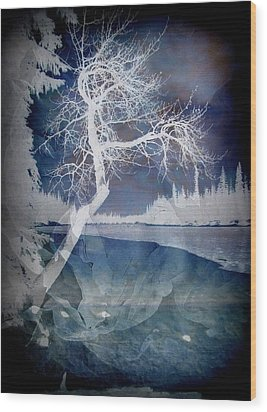 The Essential Pause Wood Print by Shirley Sirois