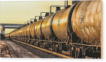 The Ethanol Train Wood Print by Bill Kesler