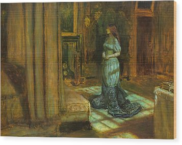The Eve Of St Agnes Wood Print by John Everett Millais