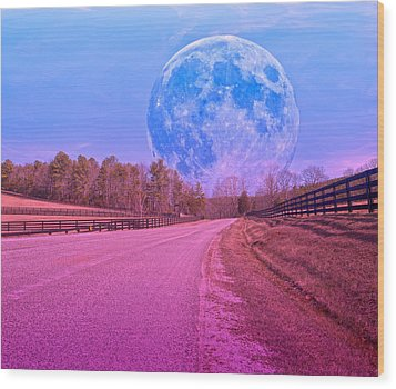 The Evening Begins Wood Print by Betsy Knapp