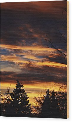 The Evening Sky Wood Print