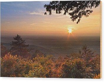 The Evening Star Wood Print by Debra and Dave Vanderlaan