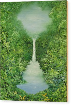The Everlasting Rain Forest Wood Print by Hannibal Mane