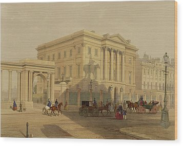 The Exterior Of Apsley House, 1853 Wood Print by English School