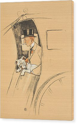 The Extra Passenger Wood Print by Cecil Charles Windsor Aldin