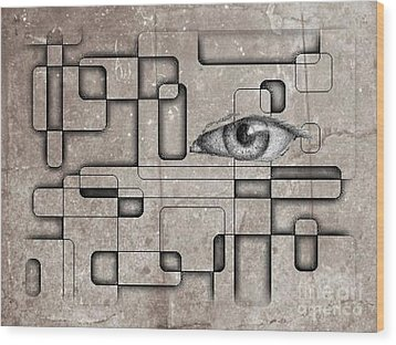 The Eye Of Big Brother Wood Print by John Malone