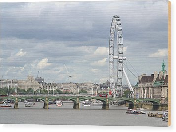 The Eye Of London Wood Print by Keith Armstrong