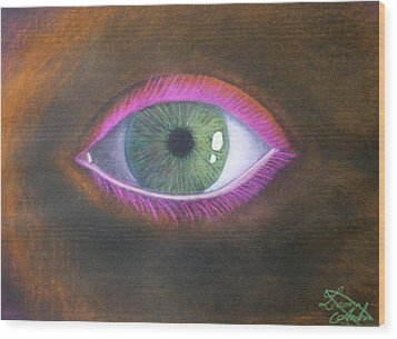 The Eye Of The One Wood Print