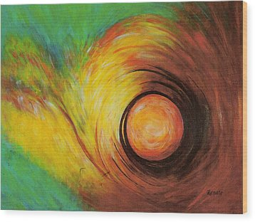 The Eye Of The Storm..... Wood Print by Renate Dartois