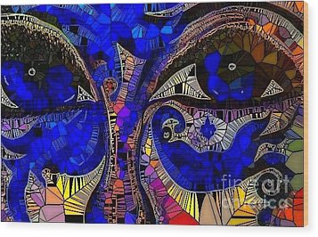 The Eyes Have It. 1 Mosaic Wood Print by Saundra Myles