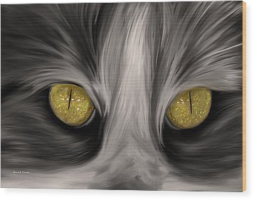 The Eyes Have It Wood Print by Angela A Stanton