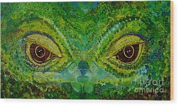 The Eyes Have It Wood Print by Julie Brugh Riffey