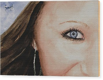 The Eyes Have It - Mckayla Wood Print by Sam Sidders