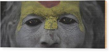 The Eyes Of A Holyman Wood Print by David Longstreath