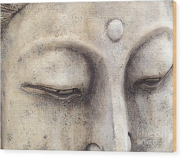The Eyes Of Buddah Wood Print