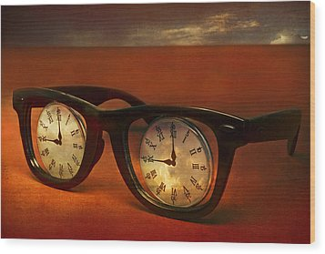 The Eyes Of Time Wood Print by Jeff  Gettis