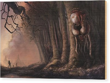 The Fabled Giant Women Of The Woods Wood Print by Ethan Harris