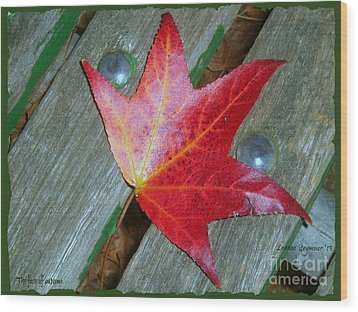 Wood Print featuring the photograph The Face Of Autumn by Leanne Seymour