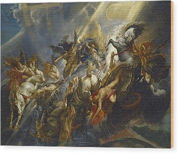 The Fall Of Phaeton Wood Print by  Peter Paul Rubens