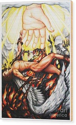 The Fallen Angel Wood Print by Derrick Rathgeber