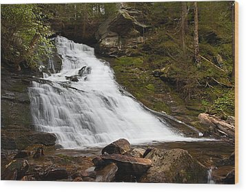 The Falls At Deans Ravine Wood Print by Mike Farslow