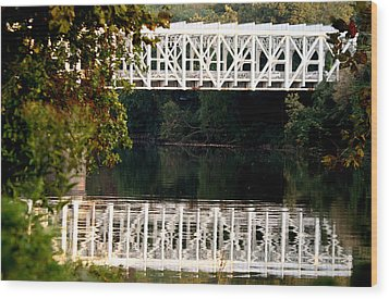 Wood Print featuring the photograph The Falls Bridge by Christopher Woods