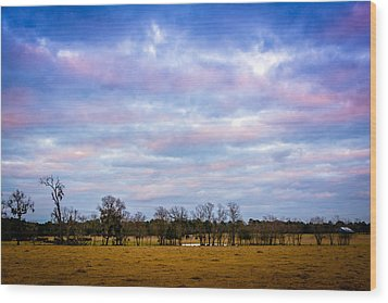 The Farm Before The Winter Storm  Wood Print