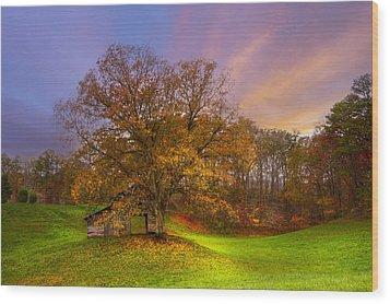 The Farm Wood Print by Debra and Dave Vanderlaan