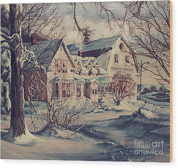 The Farm Wood Print by Joy Nichols
