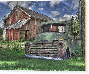 The Farm Truck Wood Print by Lori Deiter