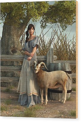 The Farmer's Daughter Wood Print by Daniel Eskridge